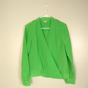 Cremieux Lime Green Blouse S
